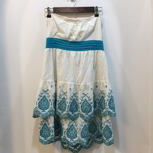 Flying Tomato Off White and Teal Dress